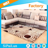 super soft and shaggy decorative carpet shaggy home 5D luxury floor rugs
