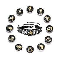 Wholesale Cheap 12 Constellations Signs Jewelry 12 Zodiac Bracelets