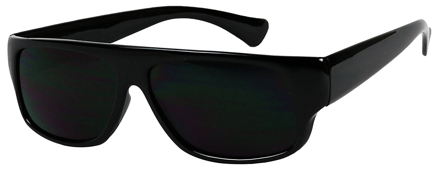 9b0d2538f992 Get Quotations · Basik Eyewear - Super Original Old School Eazy E Gangster Dark  Lens Sunglasses