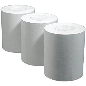 Black Print Thermal TTY Paper 12 Roll Pack