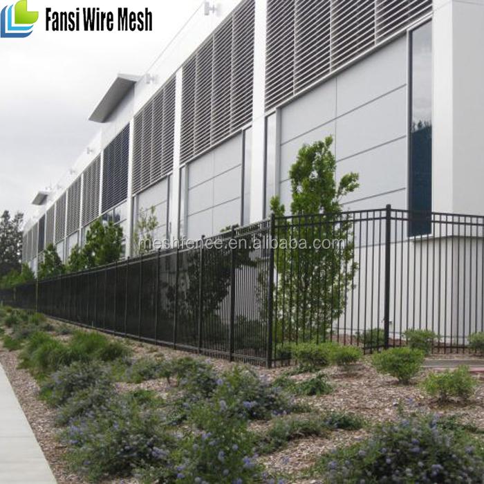 Solide pvc métallique en fer forgé jardin clôture panneaux et ...