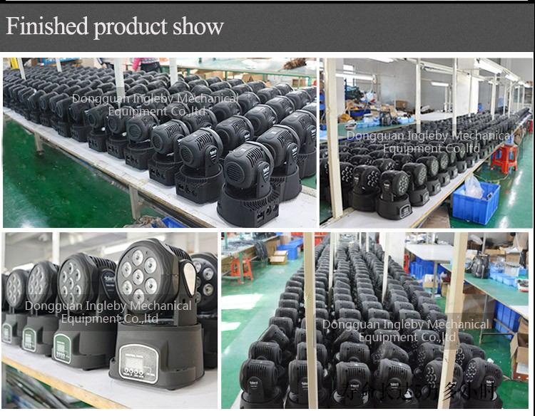 2016 Guangzhou led stage light 7*10w RGBW 4in1led mini flat par can dj lights