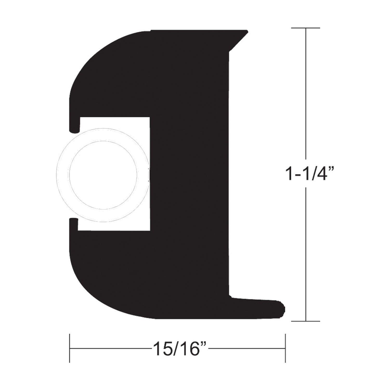 1 1//8Brite 12Aluminum Rub Rail