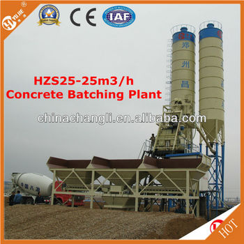 Hzs25 Mini Cement Concrete Agitating Station By Hopper