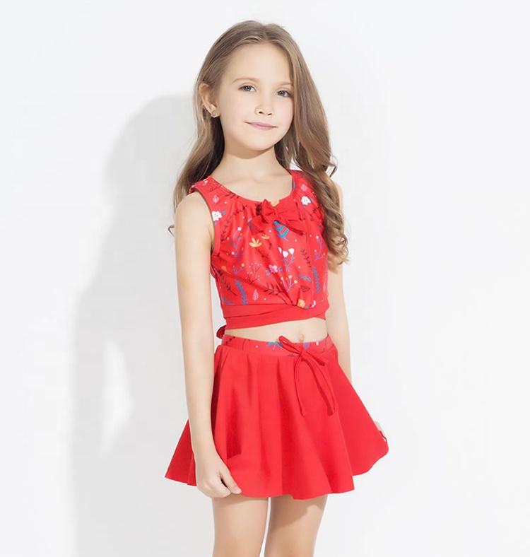 Girl Red Tankini Swimwear Children Bikini Wholesale ...