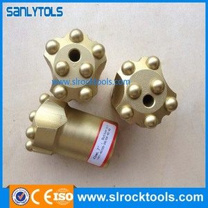 hex shank drill rod bore hole button bits