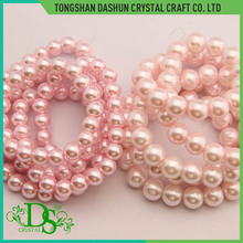 Fashion colorful charm beads imitation glass pearl beads 6mm