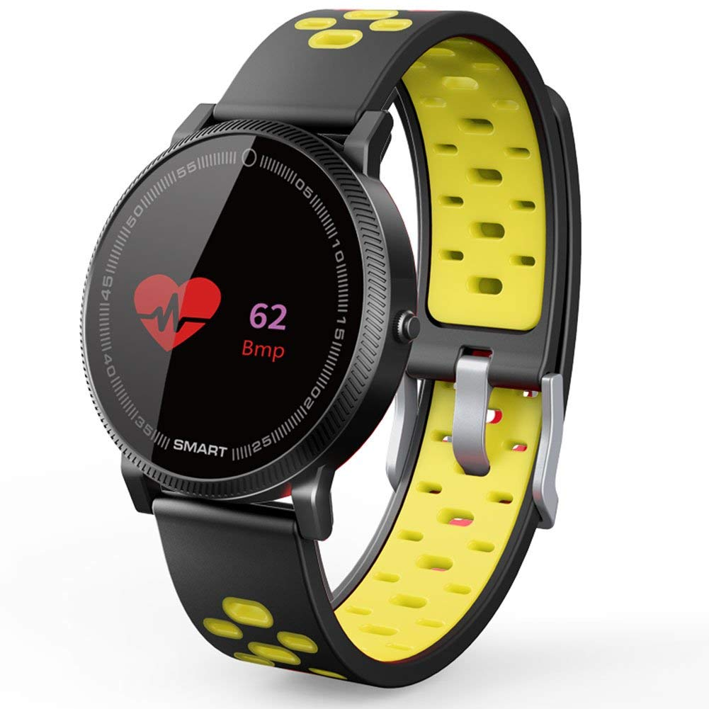 Uhruolo Fitness Tracker Smartwatch With Bluetooth Pedometer Camera Blood Oxygen Blood Pressure Heart Rate Sleep Monitor Activity Tracker,Yellow