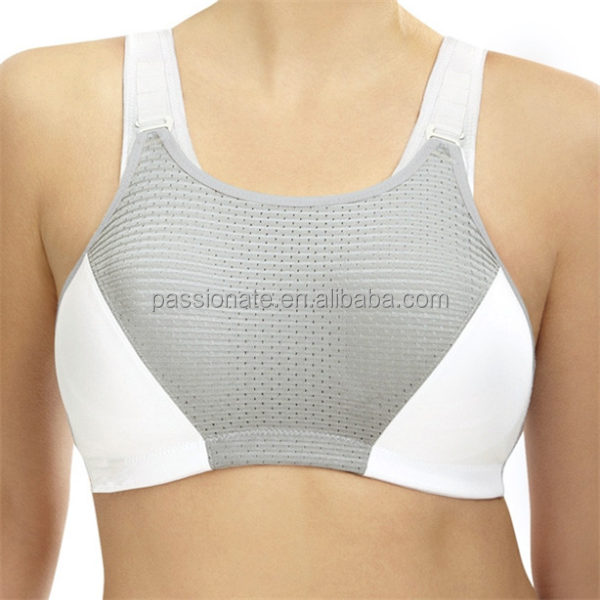 Custom Plus Size Sports Bra, Wicking Material Padded Sports Bra