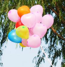 100 PCS lot Heart Shaped Latex Balloons Wedding Birthday Party Decoration Free shipping