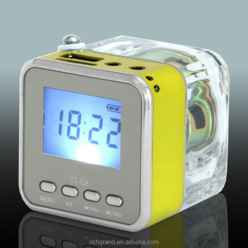 Portable Digital LCD Display Mini Speaker FM Radio MP3/4 Player SD/TF USB Disk Speaker