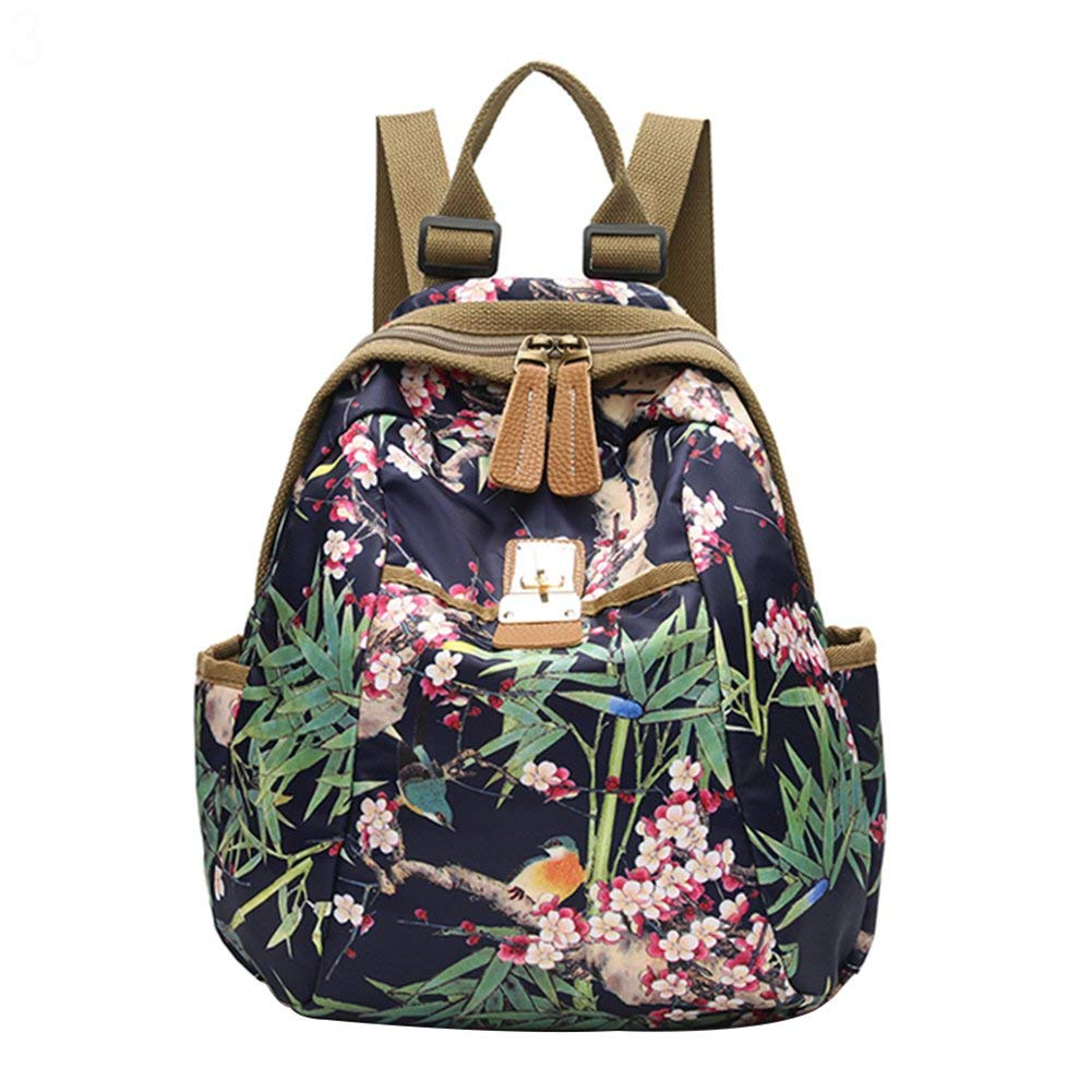 Get Quotations · Slendima Fashion Colorful Floral Print Cool Canvas Backpack 554965c6be24c