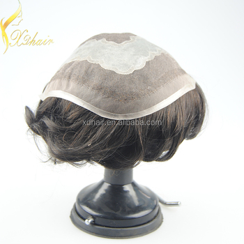Hot selling remy human hair piece toupee for black men, invisible knot very natural hair line women toupee