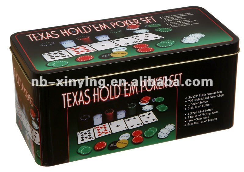 Hot selling 200 poker chip set in tin box