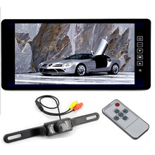"9"" TFT LCD Color 800*480 Hd Screen Car Rearview Mirror Monitor with Waterproof Night Vision Backup Camera"