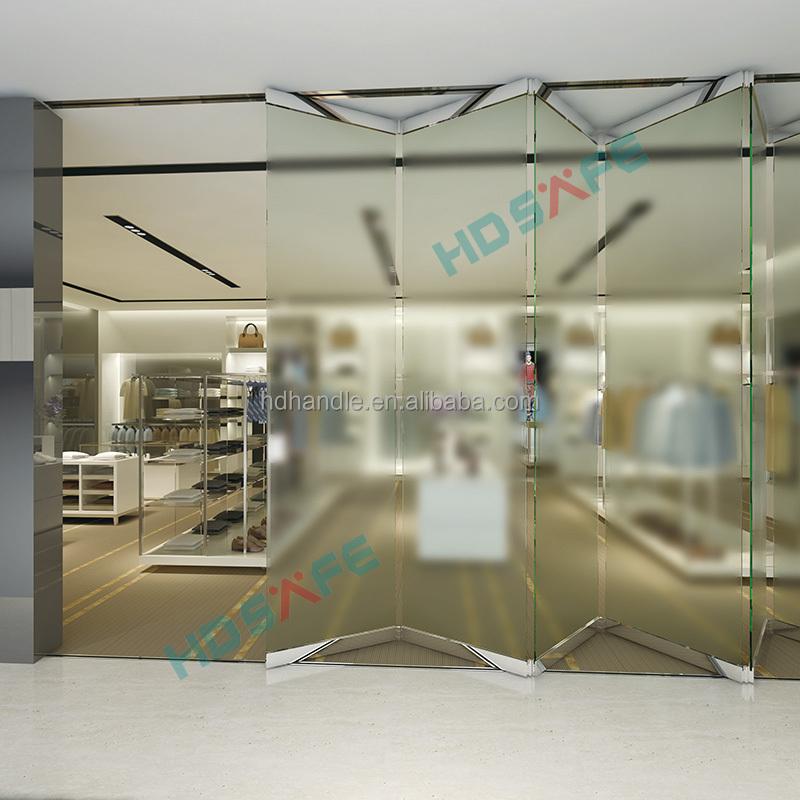 Neue design edelstahl rahmenlose glas trennwand