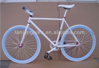 Colorful Double Rims 700c Steel Fixed Gear Bike With Unique Pedal