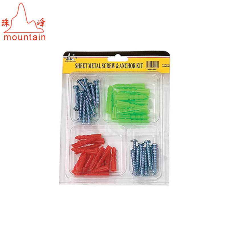 China hot selling 50Pcs <strong>Screw</strong> and Wall Anchor Hardware Assortment Kit