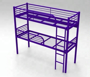 new product b904a f74ea Twin Over Queen Size Heavy Duty Double Futon Black Metal Bunk Bed - Buy  Double Metal Bunk Bed,Metal Bunk Bed,Bunk Bed Product on Alibaba.com