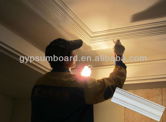 flexible gypsum/plaster ceiling cornice designs