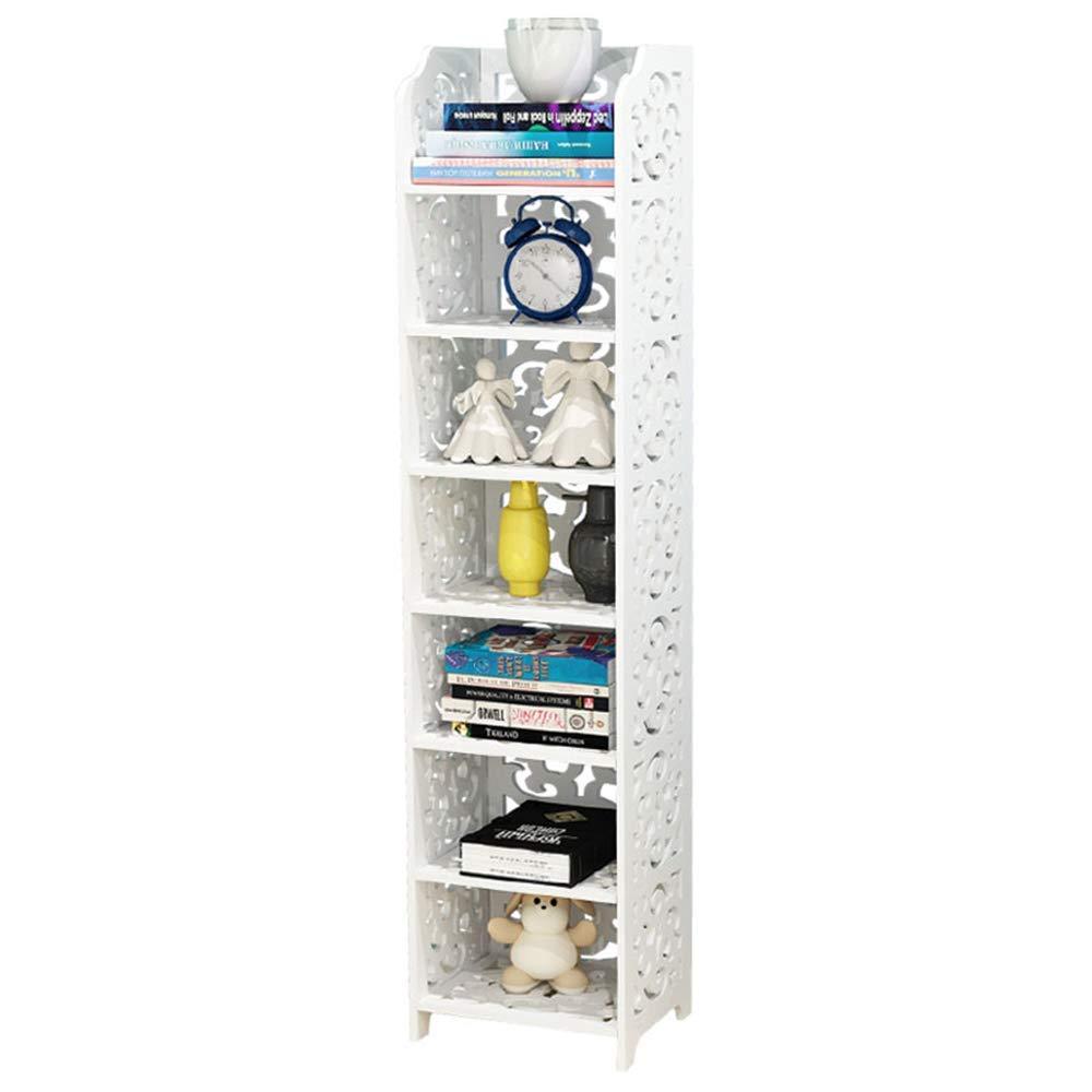 Feifei 7-Tier Modular Cut-Out Wood Plastic Composite Shelf Unit Storage Organiser Shelf Bookcase Display Rack