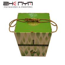 Flip top folding gift boxes with handle