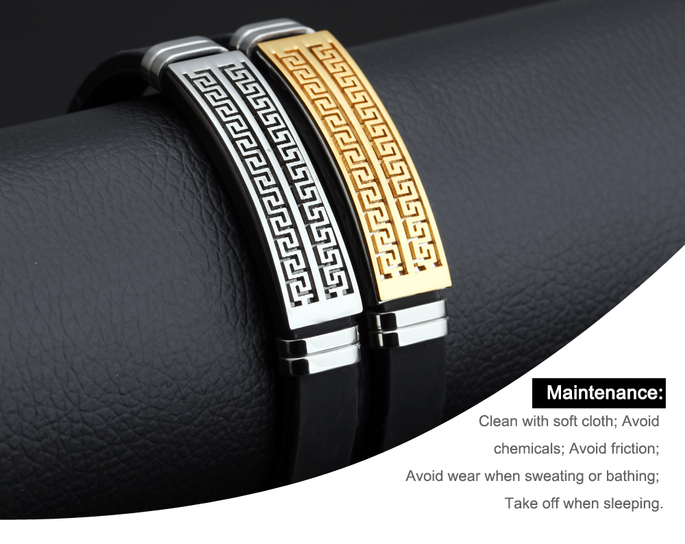 Trending Products 2019 New Arrivals Men Silicon Bracelet Custom