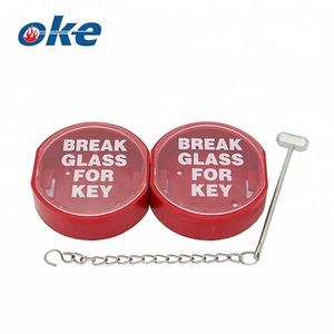 Fire Alarm Break Glass for Key with Hammer