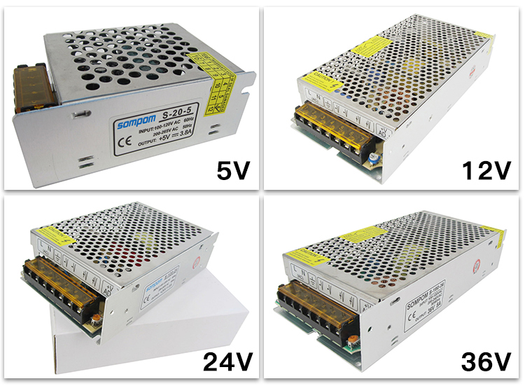 AC/DC 12V 400W Sompom Single Output Stage Rainproof Switch Power Supply Outside 12V 400W