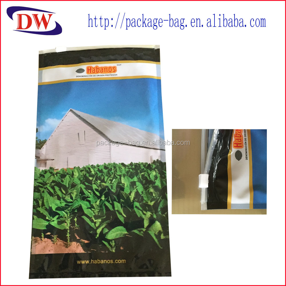 Zip lock Bag for Cigar Packaging with Moisture Aluminum Foil Cigar Packaging Bag