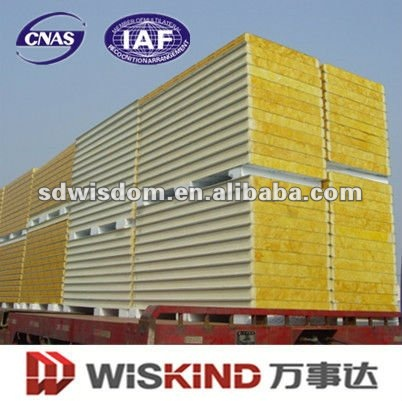 Glass Wool Sandwich Steel Wall Panels