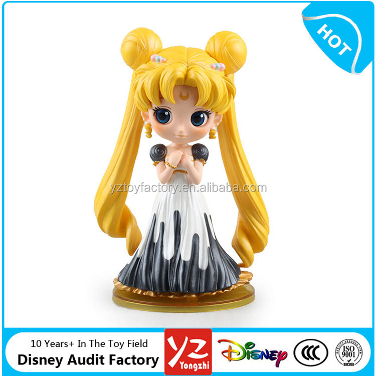 JP Anime Big Eyes Cute Sailor Moon Tsukino Usagi PVC Action Figure Model A