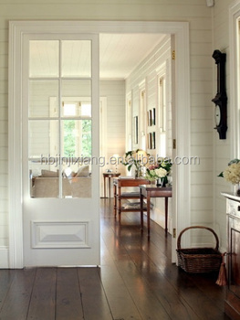 Interior French Dining Room Wooden Sliding Pocket Door