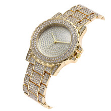 Neue Mode Iced Out Volle Diamant HipHop Bling Bling Gold Silber Uhren für Männer