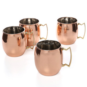 Smirnoff Vodka and Ginger Beer Moscow Mule Copper Mugs