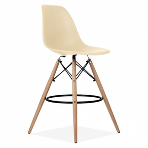 China factory wooden legs classic bar stool, Morden wooden bar chair with footrest