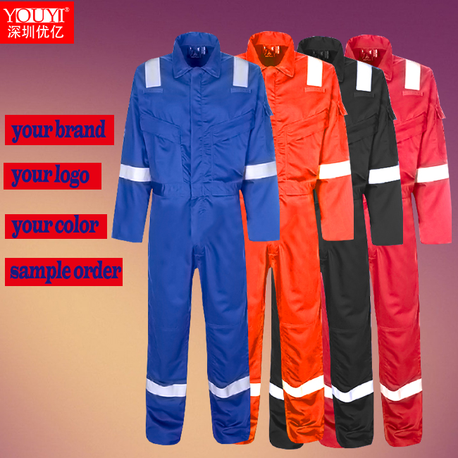 classical design for OEM customize flame retardant antistatic coverall/fire resistant overall/oil antistatic workwear