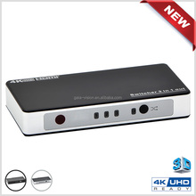 Real 4K factory 3x1 hdmi switch wireless remote control hdmi switch/switcher 3 input 1 output