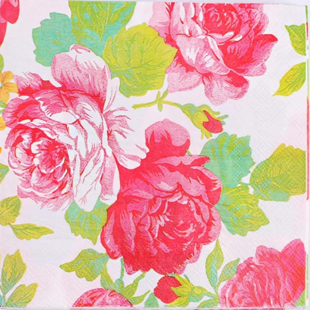 3 x 100 x 2ply Rose Pink Paper Napkins Serviettes 33cm