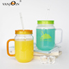 Brand New Mason Jar With Handle Disposable Plastic MasonJar Cups