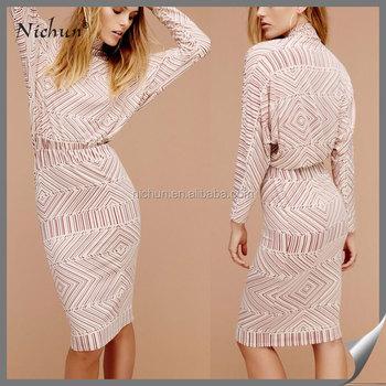Latest Designer Formal Skirt Long Sleeve Printed Slim Fit Patterns ...