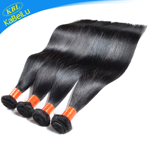 KBL non-processed no tangling indian hair in dubai, natural import indian hair, cheap 8 16 18 20 inch straight human hair weave