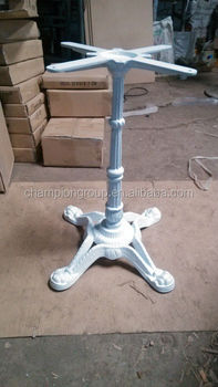 White Cast Iron Furniture Table Base