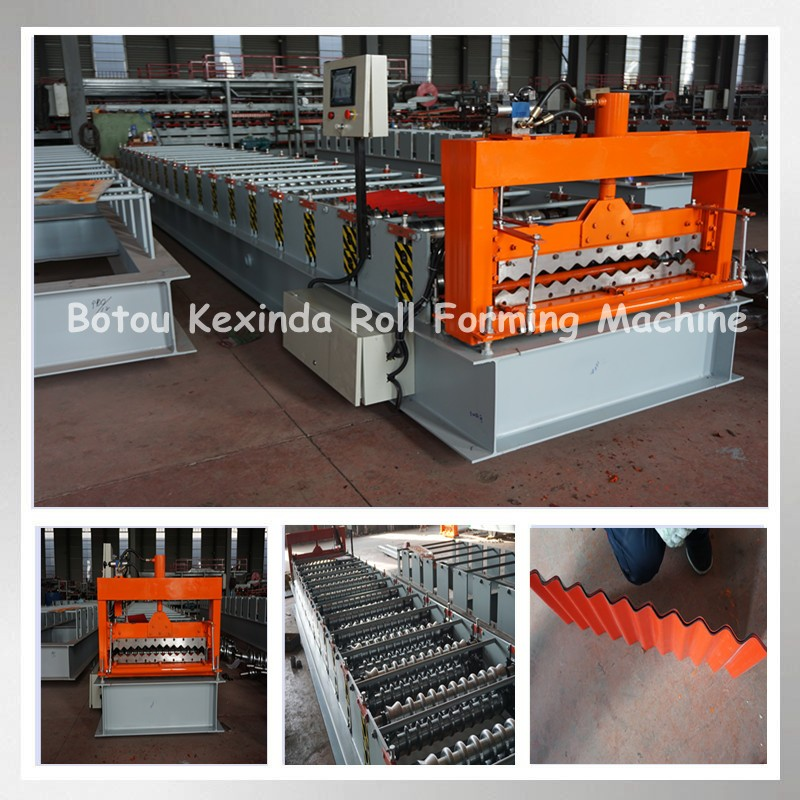 Galvanized Corrugated Iron Steel Sheet Cold Roll Forming Making Machine Hot Sales In India