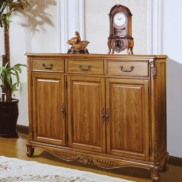 Luxury Modern Antique Style Wooden Shoe Cabinet