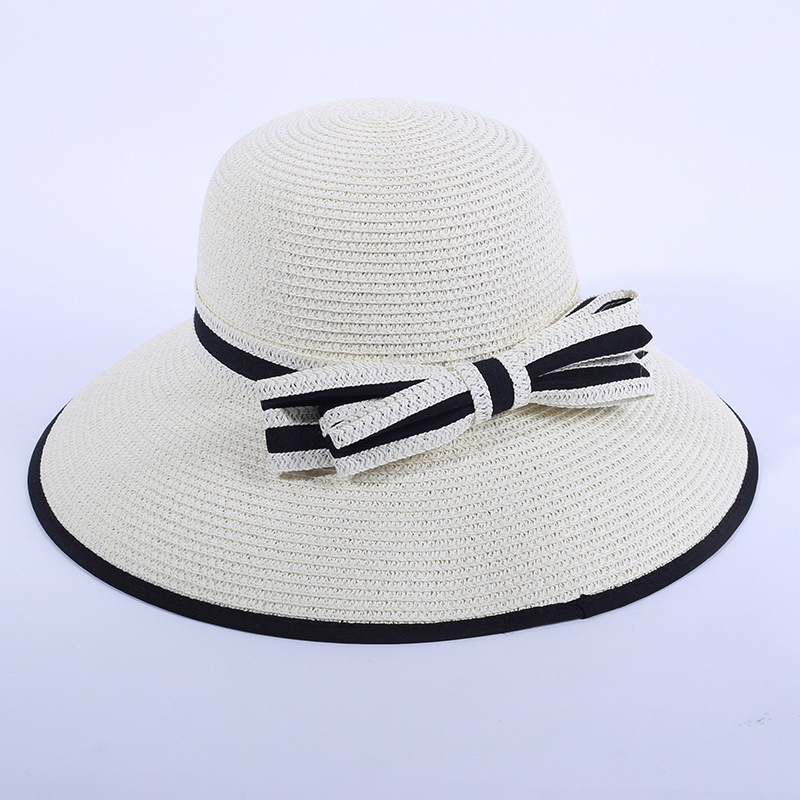 Estilo pop plegable promocional rollo de paja sombreros de ala ...