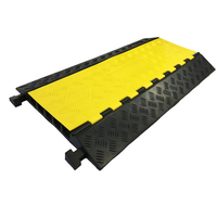 Durable Cable Protector 5 Channel Rubber Cable Protector Ramp