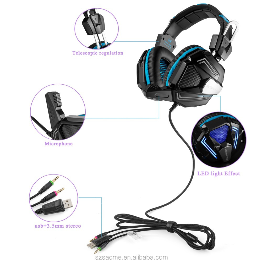 Kotion EACH G5000 Gaming Headphone Best Stereo Game Earphone Headset with Microphone