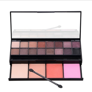 Facial Makeup Cosmetic Tools 20 color Eyeshadow with Blush Kit Eye Shadow Palette Face Corrective Bronzer with Mirror