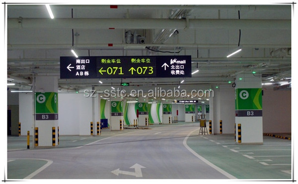Parking guidance system Ultrasonic parking sensor,Underground Car guidance solution with LED directional display